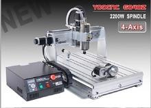 цена на EU,DE,Free VAT 4 axis CNC 6040 2200w 2.2KW USB port USB Mach3 CNC Router / Milling Machine/Engraver Engraving Machine 220V/AC