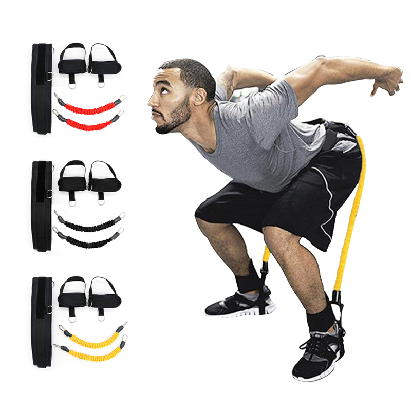 Fitness Bounce Trainer Resistance Bands Tension Rope Basketball  Running Legs Strength Agility Jump Training Strap Equipment
