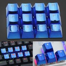 12 stücke Mechanische Tastatur Beleuchtete Entfernung Universal USB Keycap Vergoldete Niedrigen Profil Durable Spiel Ersatz Wasserdicht