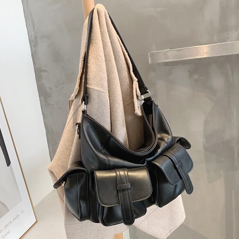 с доставкой Women Luxury 2021 PU Leather Designer Luxury Handbags Lady Branded Trending Hand Bag Female Shoulder Bag