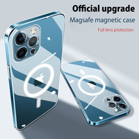 SoCouple-funda magnética transparente para iPhone 12 Pro Max, cargador inalámbrico, Magsafing, cubierta trasera transparente para iPhone 12 mini