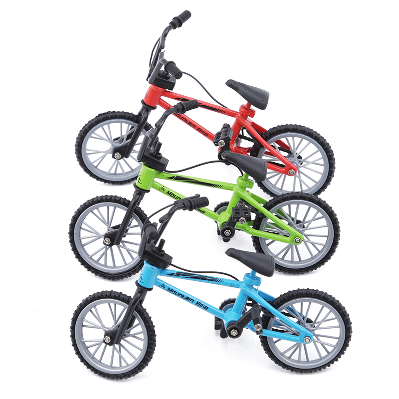 Hot Sale Kids Mini Simulation Alloy Finger Bike Toys Xmas Birthday Gifts For Children Fingerboard Bicycle Toys With Brake Rope