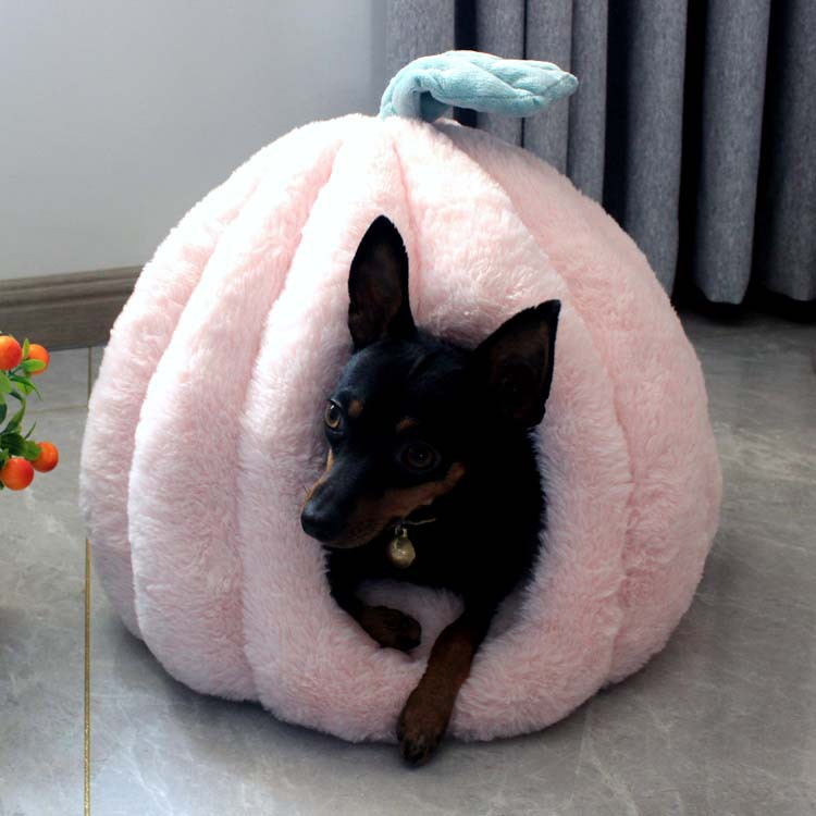 Зимняя розовая собачья будка, Конура для кошек, утолщенный домик для кошек, симпатичная Юрта, домашняя будка для домашних животных, теплый и ...