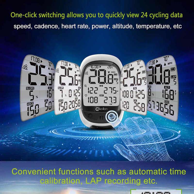2.3 インチ gps バイクコンピュータワイヤレススピードメーター bluetooth ant + 自転車走行距離計スピードケイデンスセンサー心拍数モニターオプション