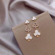 High-Grade Light Luxury SR Pin Earrings Women Fashion Exaggerated 2020 New Style Fashion Cool All-match round Face Ear Stud недорого