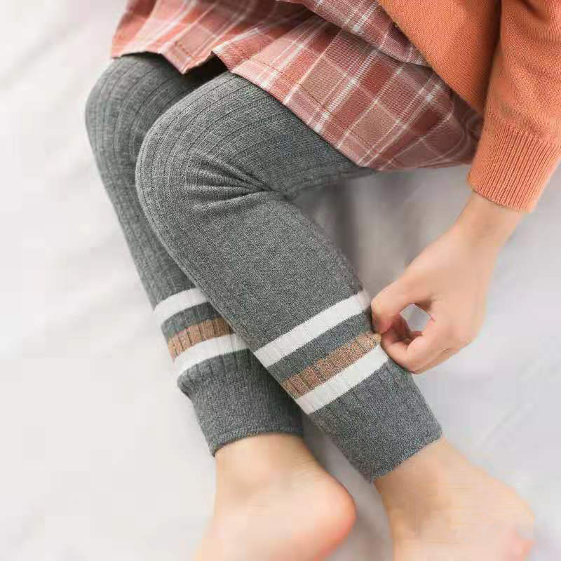 Autumn Winter Newborn Baby Girls Pants Cotton Leggings Elastic Waist Patchwork Design Toddler Bottoms For Kids Children Girl