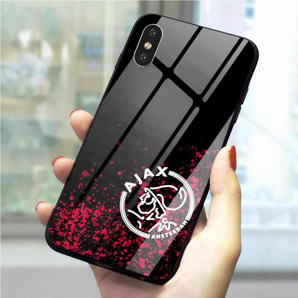 Ajax Team Phone Cover for iPhone X Case 6 6S XR Xs Max 8 Plus 7 5S 5 SE 11 pro Tempered Glass