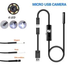 5,5 мм Портативный эндоскоп инструмент для чистки ушей бороскоп 6 светодиодный IP67 USB видео в режиме реального времени мониторинг мобильных телефонов Компьютеры