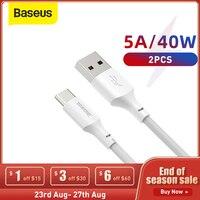 Baseus-Cable USB tipo C de carga rápida, Cable de datos para dispositivos Samsung, Huawei, Xiaomi y Samsung