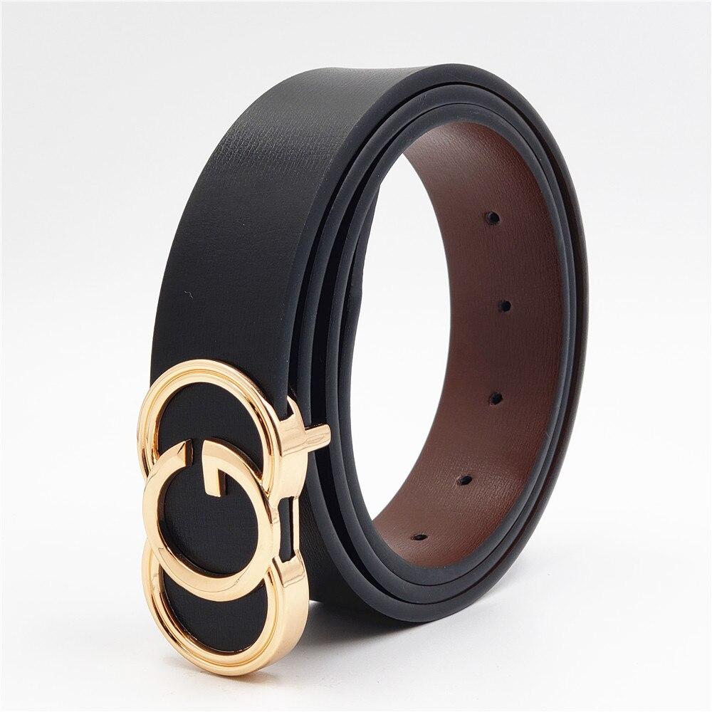 Luxury Cowhide Belts Buckle Designer Fashion Men Belts Male Women Genuine Leather Waist Strap For Jeans Pants