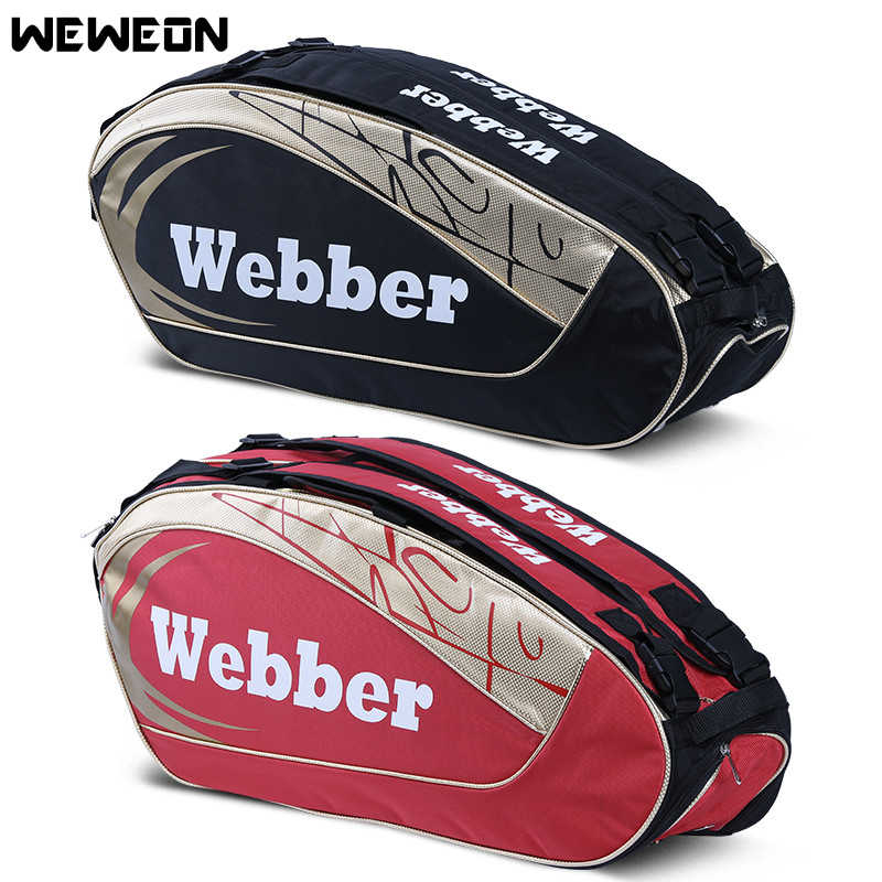 Large Designer Tennis Bag Backpack Athlete's Badminton Bag 2 Models for 8-12 pcs Rackets Bags for Professional Sport Competition