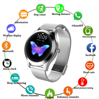 Smart Watch Ip67 Waterproof Slim Metal Body Milanese Strap Replaceable Heart Rate Monitor Blood Pressure Smartwatch Men