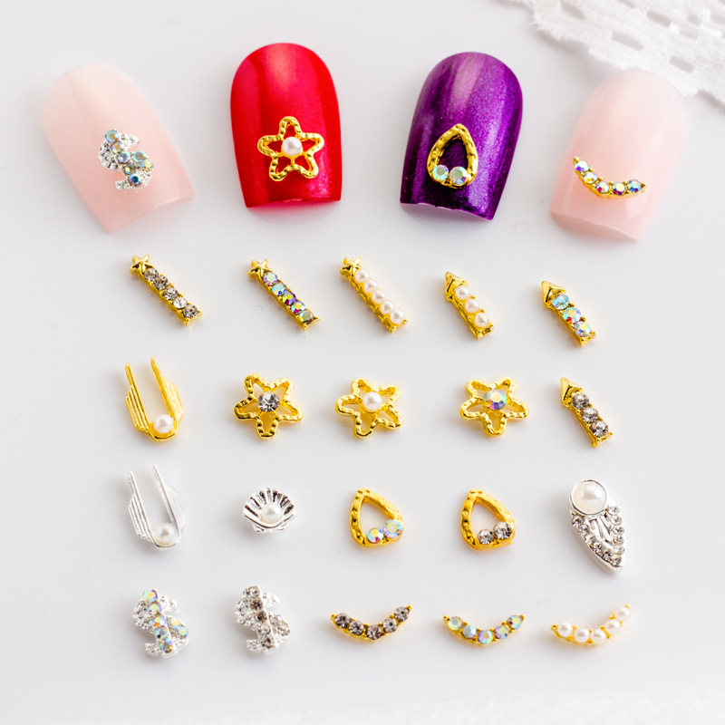 Nail Sticker Nail Ornament Nail Environmentally Friendly Alloy Bar-shaped Accessories Shell Accessories