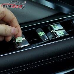 Window Button Luminous Sticker Fashion Auto Door Windows Button Prompt Sticker Car Styling Car Door Window Lift Prompt Sticker