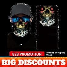 Motorcycle Mask Face Shield Biker Balaclava Masque Scary Unisex Maska Skull Mascarilla Ski Bandanas Mascara Moto