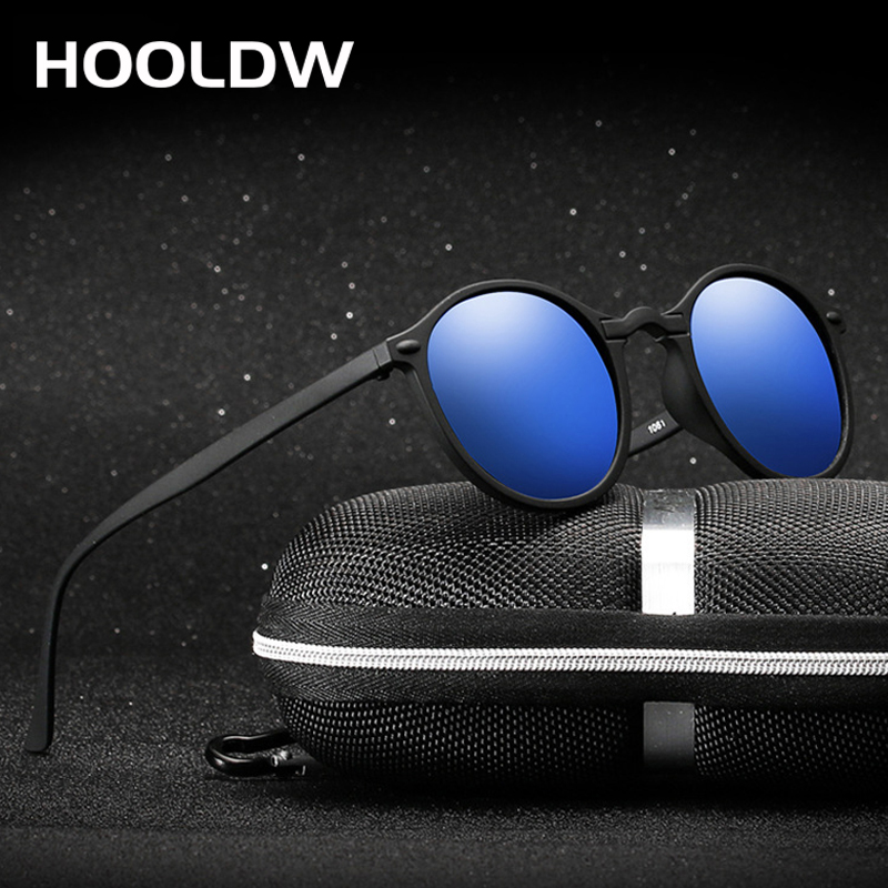HOOLDW New Women Round Polarized Sunglasses Retro Vintage UV400 Driving Steampunk Eyewear Male Small Sun Glasses Gafas Ciclismo