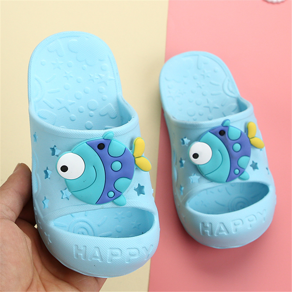 Octopus Toddler Slippers Kids Girls Children Shoes Boys Indoor Cute Fish Toe-Protecter Baby Flip Flop Unicorn Birthday Gift Idea