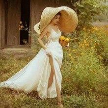 ريال بوت 1.1 م ، أكبر قبعة القش اليدوية!!! القش الحقيقي 45 سنتيمتر حافة الزفاف قبعة واقية من الشمس النساء الترفيه قبعة التقاط الصور