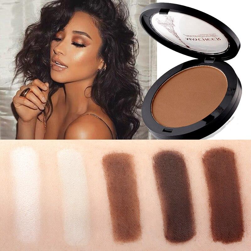 Foundation Natural Concealer Brighten Shimmer Dark Skin Face Powder Contour Shimmer Bronzer Highlighter Makeup Maquiagem