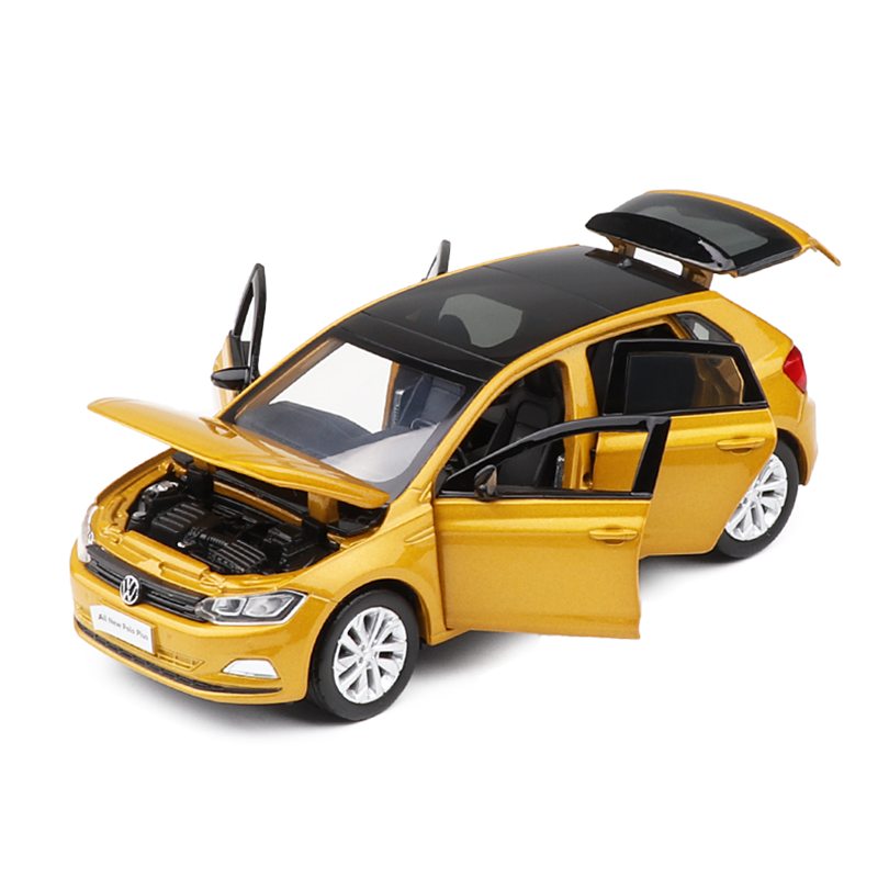 1/32 VW All New Polo-PLUS Simulation Toy Vehicles Model Alloy  Children Toys Genuine License Collection Gift Off-Road Car Kids