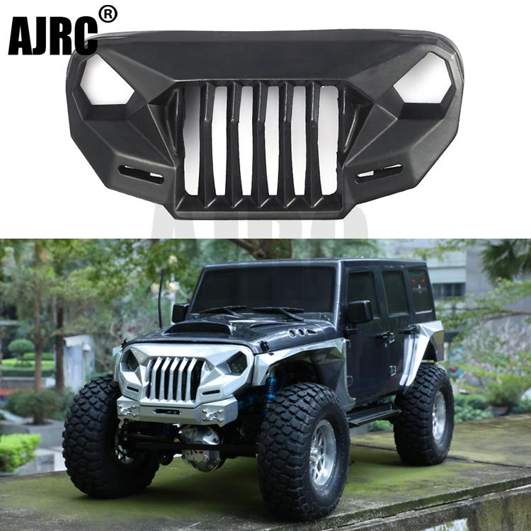Ms Anger Front Face Grating For 1/10 Rc Crawler Car Trx4 Axial Scx10 Jeep Jk Wrangler Sema Front Grille Angry Front Face