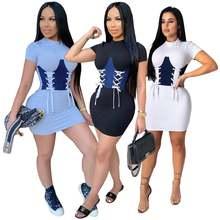 2020 летнее новое платье в европейском и американском стиле