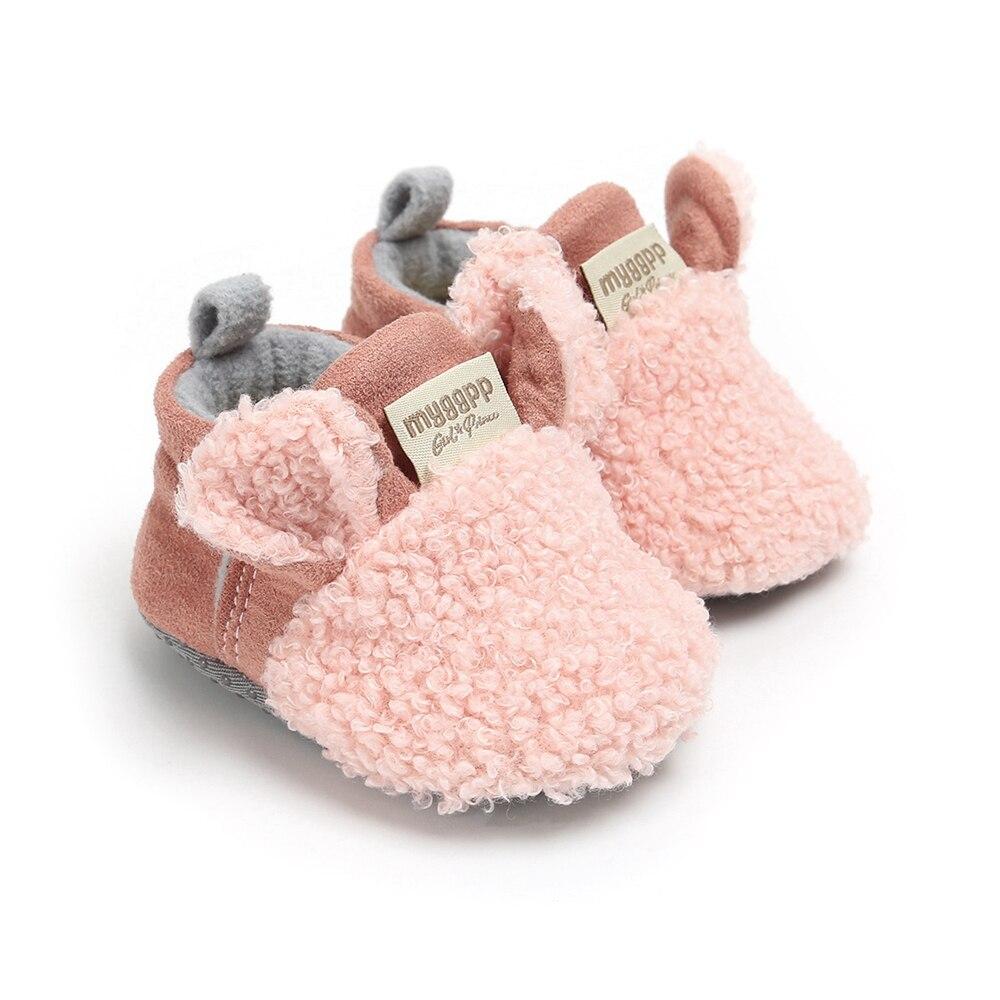 2019 Toddler Boy Girl Snow Boots Shoes Newborn Baby Autumn Winter Cotton Warm Soft Sole Plush Prewalker