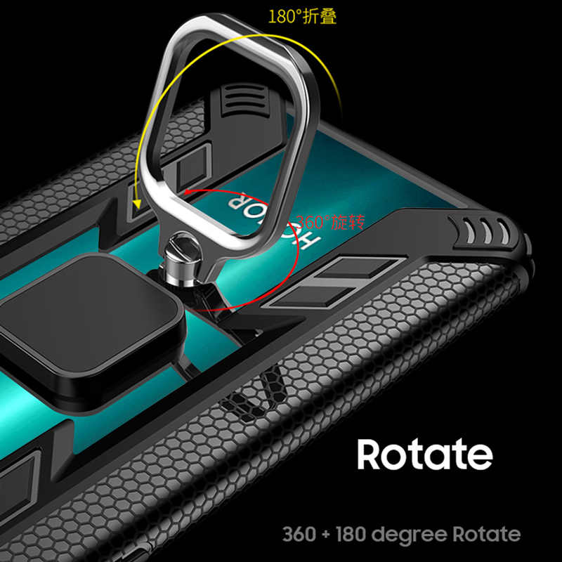 KEYSION Cincin untuk Kehormatan 20 Pro 20S 10i 10 Lite 8X 8A Ponsel Cover untuk Huawei P40 Lite p30 Pro Mate 30 20 Y6 6S Y7 Y9 2019 Y9S
