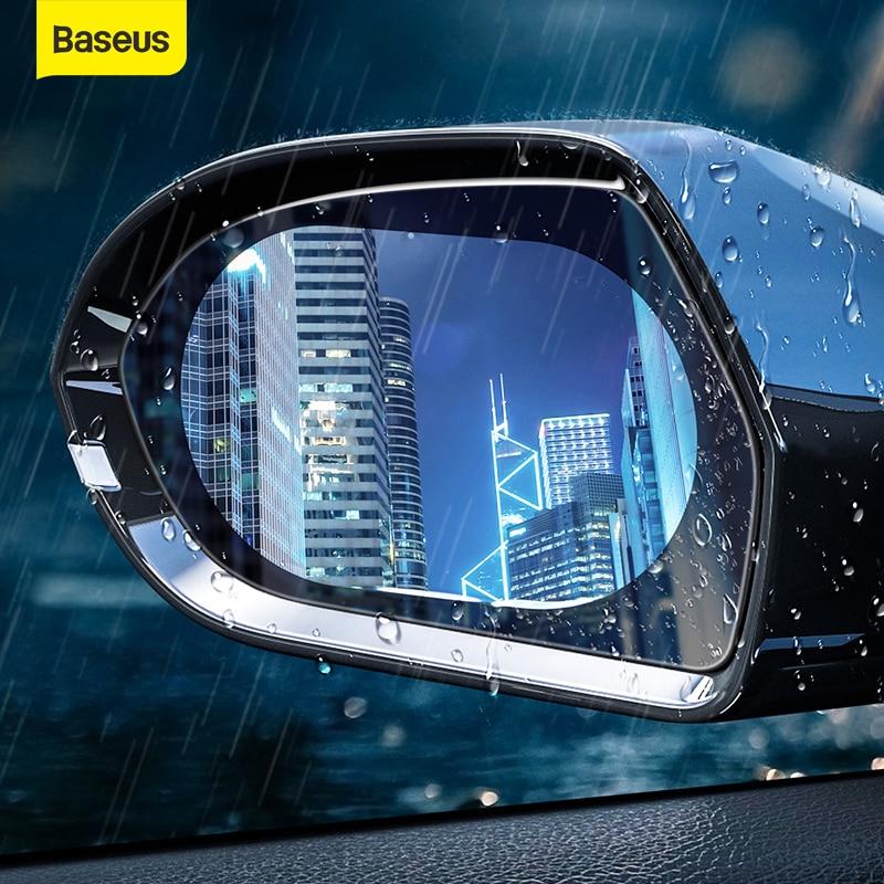 2pcs Car Rearview View Mirror Waterproof Anti-Fog Rain-Proof Side Window Film UK