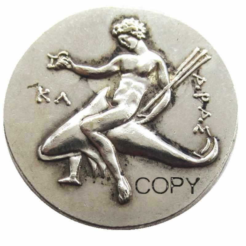 G (25) Cổ Đại Hy Lạp Bạc Didrachm Đồng Xu từ Taras-315 TCN Mạ Bạc Sao Chép Đồng Xu