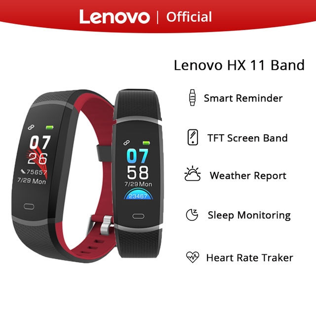 Lenovo HX11 חכם להקת TFT LED מסך חכם עמיד למים Smartband צמיד אנגלית חכם תזכורת ספורט 3D דינמי UI dispaly