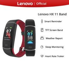 Lenovo hx11 smart band tft tela led inteligente pulseira smartband à prova dsmart água lembrete inteligente inglês esporte 3d dinâmico ui dispaly