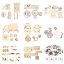 Baby DIY Busy Board Toys Montessori Sensory Activity Board Accessories Fine Motor Skill Latch Lock Cognition Toy Games