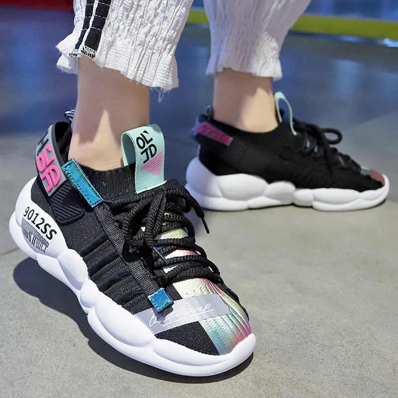Designer Mode Turnschuhe Frauen Chunky Turnschuhe Plattform Frauen Schuhe Atmungs Frühjahr Vulkanisieren Schuhe Dicke Sohle Papa Schuhe 5cm