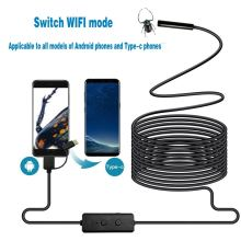 F160 8mm HD 720P Black WIFI Endoscope Camera Cable IP67 Waterproof With Adjustable Light Button 8pcs LED Light Long Cable(China)