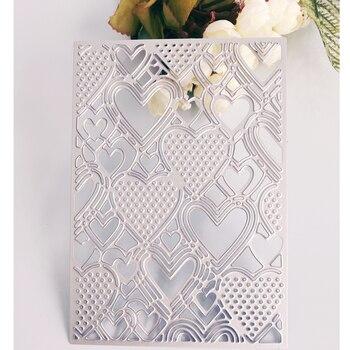Pfirsich herz basis platte hintergrund muster metall schneiden sterben, sammelalbum karte DIY dekoration neue