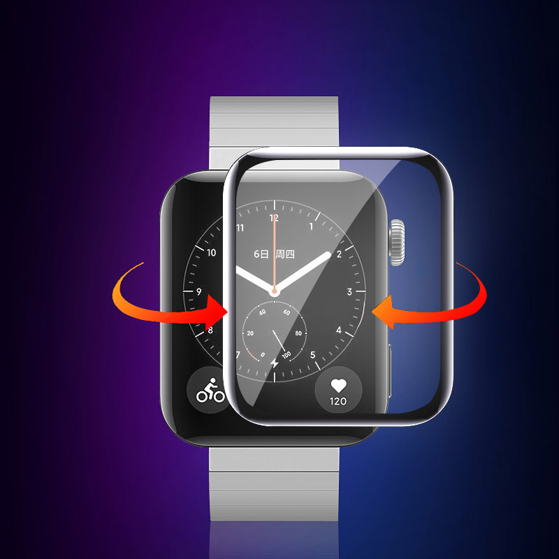 for xiaomi smart watch Film Explosion-proof / anti-scratch soft film (non- tempered glass ) Mi watch screen protector
