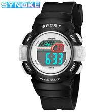 Детские часы synoke цифровые Модные Цветные светящиеся спортивные