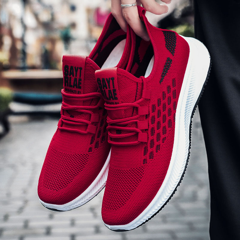 Rubber Platform Men Sport Shoes Summer Breathable Running Jogging Sneakers Casual Mens Trainers Size Zapatillas Hombre Footwear