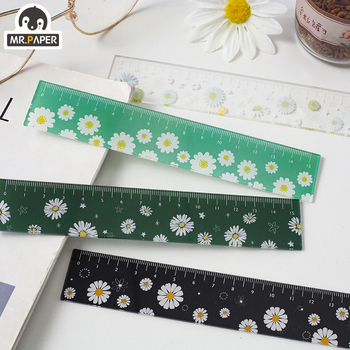 цена на Mr.paper 4 Designs 15cm Flower Acrylic Color Ruler Multifunction DIY Stationery Drawing Straight Students Office For Kids School