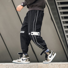 BOATTAIL Overalls Men Black Pocket Cargo Pants 2019 Joggers Harajuku Streetwear Hip Hop Trouser Men Harem Pants Pantalon Hombre(China)