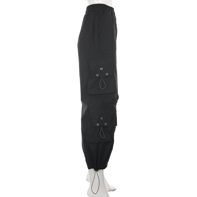 Streetwear Loose Black Cargo Pants  6