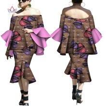 Лето 2020 африканские Дашики для женщин комплект с юбкой натуральная