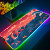 Anime Ocean Dragon Mouse Pad RGB Laptop Office Light-emitting LED Suitable for Anime Carpet Game Accessories Gamers USB Pad Desk