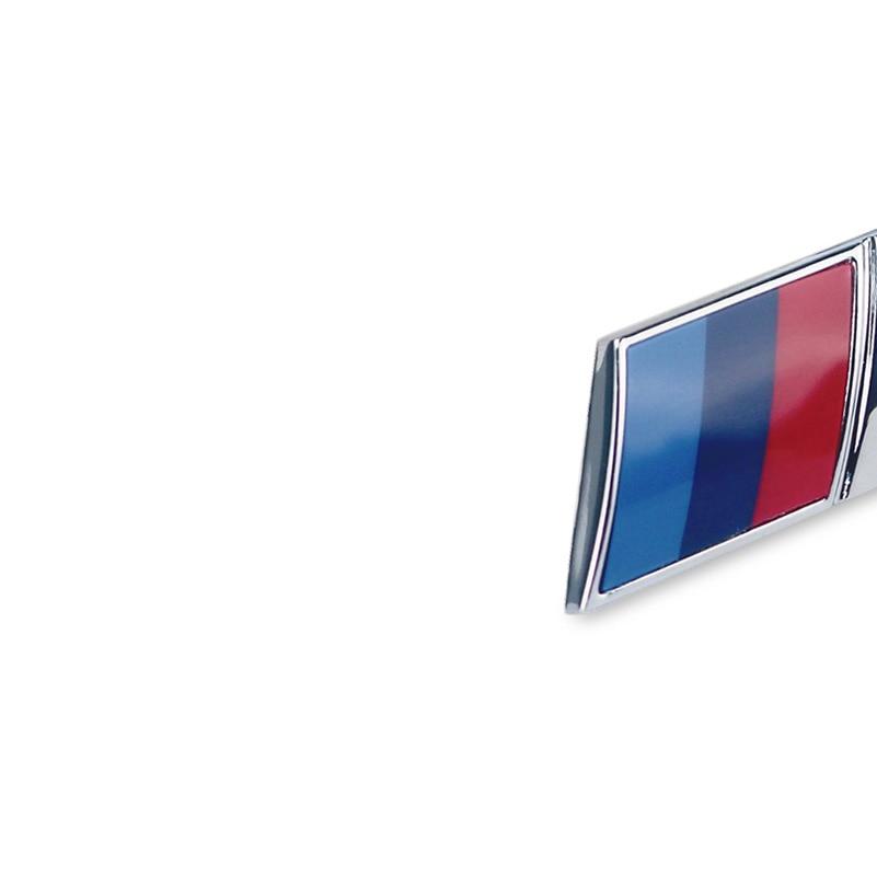 2PCS M Power Performance Metal Logo Car Sticker Decal Emblem Grill Badge For BMW E46 E39 E90 E34 E36 E53 E60 X5 E70 Car Styling