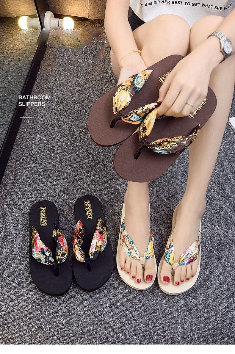 Womens Flower Tassel Flip Flop Summer Basic Casual Lightweight Holiday Beach Flower Sandal Shower Shoe Slippers