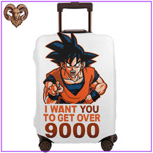 Krijgen-Over-9000 Anime Dragon Ball Dragon Ball Z Reizen Accessoires Protector Bagage Cover Goku Manga Parodie Oom sam Diy Tag(China)