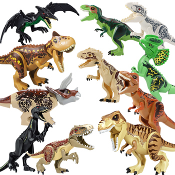 ts8000 jurassic dinosaurs base tyrannosaurus escape building blocks toys kids diy bricks gift for children compatible with lepin Jurassic Dino World Building Blocks Toys for Boys Kid Compatible Bricks Big Small Dinosaurs Jurassic Park for Children Gift MOC