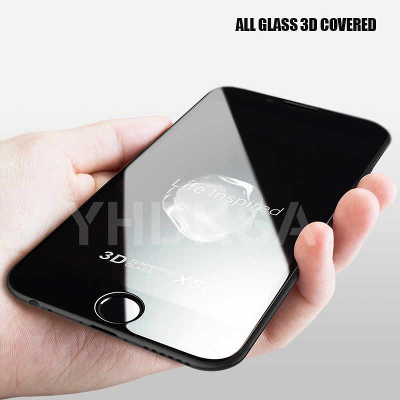 9D yumuşak kenar temperli cam iPhone 8 7 6 6S artı SE 2020 cam tam kapak ekran koruyucu iPhone 11 Pro XS Max X XR cam
