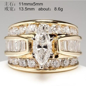 YOBEST Charm round large crystal ring classic temperament ring European and American popular new products(China)